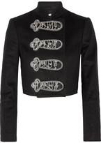Alice + Olivia Josette Embellished Wool-blend Jacket - Black