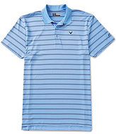 Callaway Big & Tall Opti-Dri Short-Sleeve Stripe Polo Shirt