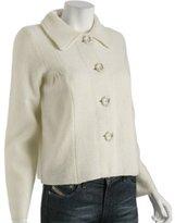ivory wool cropped swing jacket