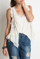 Umgee USA Short Lace Vest