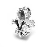 Olympia Fleur De Lis Charm by Beads & Charms - Compatible with Major Brand Euro-Style Bracelets & Necklaces