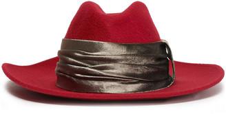 Brunello Cucinelli Velvet-trimmed Cashmere-felt Fedora