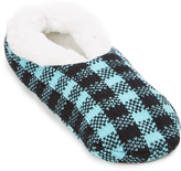 Charles Albert Blue & Black Plaid Slipper - Women