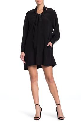 Diane von Furstenberg Jessamine Neck Tie Silk Shift Dress