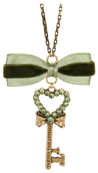 Tarina Tarantino Emerald Pretty Heart Key Pendant Necklace (Green) - Jewelry