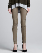 Vince Leather Leggings, Metal