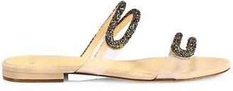 Alexandre Birman Marcella Embellished Suede Slides
