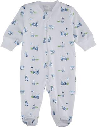 Kissy Kissy Boy's Longest Drive Zip-Up Footie Pajamas, Size Newborn-9M