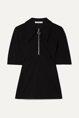 Tibi Stretch-crepe Top - Black