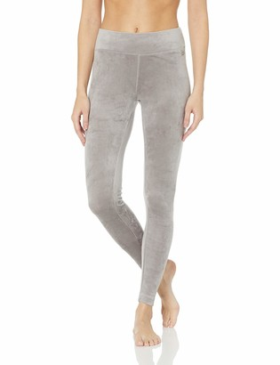 Danskin Women's Active Microvelour Mid Rise Ankle Legging