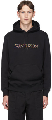 J.W.Anderson Black Embroidered Logo Hoodie