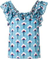 Dondup ruffled neck blouse - women - Silk - 44