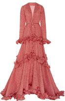 Rosie Assoulin Twisted Ruffle Drawstring Waist Gown
