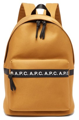 A.P.C. Savile Logo Cotton-blend Canvas Backpack - Mens - Beige
