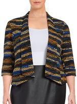 Nipon Boutique Plus Patterned Blazer