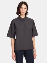 Eien29 Simple Half Button Down Shirt
