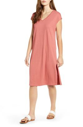 Caslon Pocket T-Shirt Dress