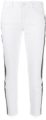 Escada Sport side stripe skinny jeans