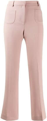 L'Autre Chose creased flared trousers