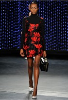 Milly Couture Floral Fil Coupe Mini Dress