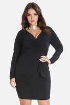 Fashion to Figure Marlow Tie Side Crossover Dress