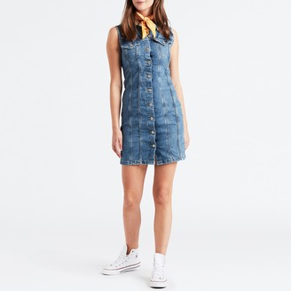Levi's Aubrey Denim Buttoned Shirt Dress