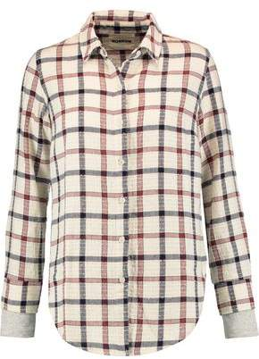 Monrow Checked Cotton-blend Shirt