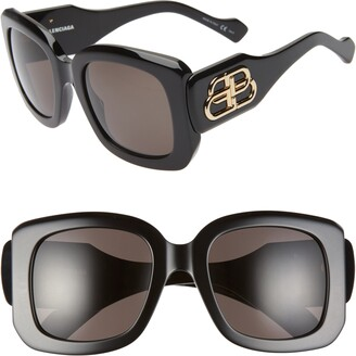 Balenciaga Paris D-Frame 53mm Square Sunglasses