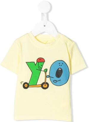Stella Mccartney Kids alphabet with scooter T-shirt