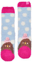 Joules Little Joule Children's Fluffy Robin Socks, Sky Blue