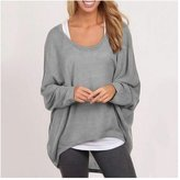 Cibeat Women Plus Size Long Sleeve Pullover Sweater Oversized Baggy Loose Jumper Tops Color: Size (Women's):XXL