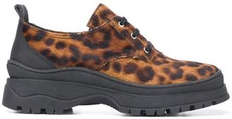 Nicole Saldaña Jesse leopard print sneakers