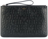Givenchy star embossed clutch
