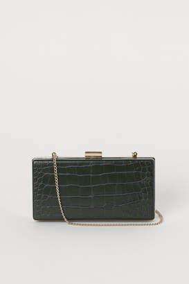 H&M Crocodile-patterned clutch bag