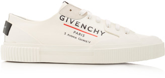 Givenchy Tennis Light Logo-Print Canvas Low-Top Sneakers