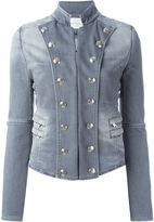 Pierre Balmain military style denim jacket - women - Cotton/Polyester - 40