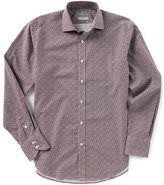Thomas Dean Geo Print Long-Sleeve Woven Shirt