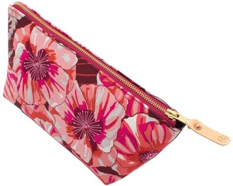 General Knot & Co 1950s Bright Poppies Travel Clutch
