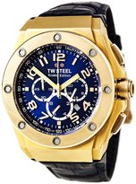 TW Steel CE4004 Men's CEO Kivanc Chrono Dial Leather Strap Watch