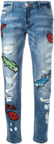Philipp Plein embroidered jeans - women - Cotton/Spandex/Elastane - 25