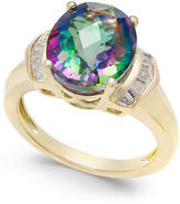 Macy's Mystic Topaz (4-9/10 ct. t.w.) and White Topaz (1/4 ct. t.w.) Ring in 14k Gold-Plated Sterling Silver