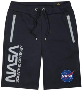 Alpha Industries Odyssey navy cotton-blend shorts