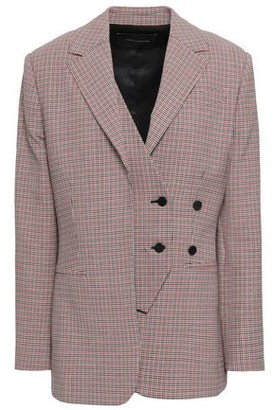 Cédric Charlier Checked Virgin Wool-blend Blazer