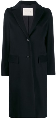 MACKINTOSH DORNIE Navy Storm System Cashmere Chesterfield Coat | LM-1006F