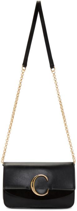 Chloé Black C Chain Clutch Bag