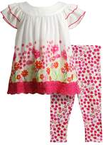 Youngland Baby Girl Floral Top & Leggings Set