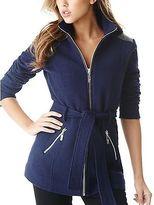 GUESS Women's Cyrene Boucle Zip-Up Coat