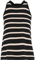 Autumn Cashmere Cotton By Bow-detailed Striped Cotton-jersey Tank