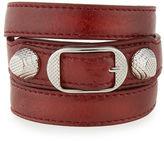 Balenciaga Giant 12 Leather Wrap Bracelet