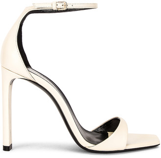 Saint Laurent Bea Ankle Strap Sandals in Pearl | FWRD